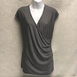 Liz Claiborne Classic Black and White Striped Top